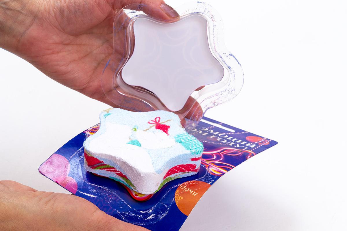 Прессованное полотенце в упаковке
